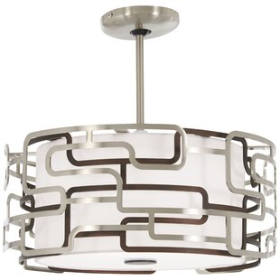 Orren Ellis Gregoire Tiers 1-Light LED Drum Pendant