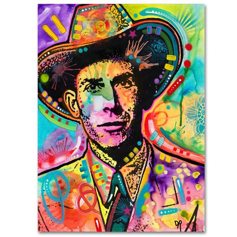 Trademark Art Hank Williams Graphic Art Print On Wrapped Canvas Wayfair