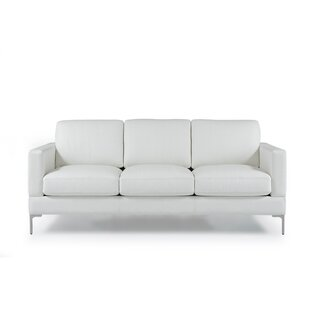 Kathrin Leather Contemporary Sofa by Orren Ellis