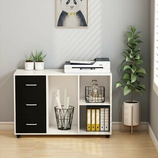 Ebern Designs Coil 3-Drawer Mobile Lateral Filing Cabinet