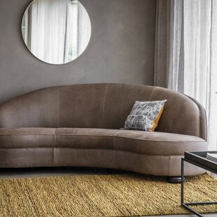 Leonia Genuine Leather 3 Seater Sofa By Brayden Studio