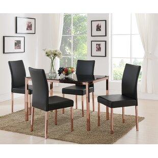 Mercer41 Heiden Metal Frame Upholstered Dining Chair (Set of 4)