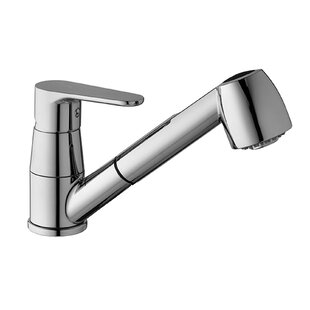 WS Bath Collections Pull Out Single Handle Kitchen Faucet