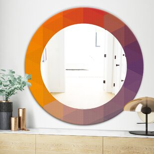 Dotted Geometry Modern and Contemporary Wall Mirror by East Urban Home