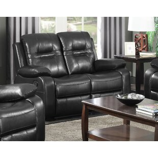 Brassex Napolean Leather Reclining Loveseat