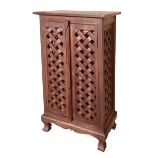 Hartlepool Lattice 2 Door Accent Cabinet by World Menagerie