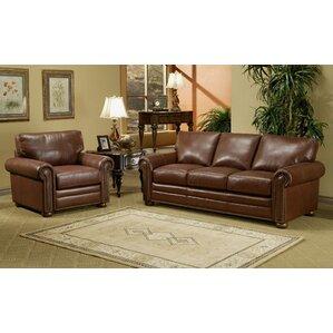 Omnia Leather Savannah Leather Configurable Living Room Set