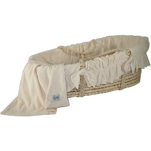 Affordable Moses Basket With Ivory Velour Bedding By Wendy Anne
