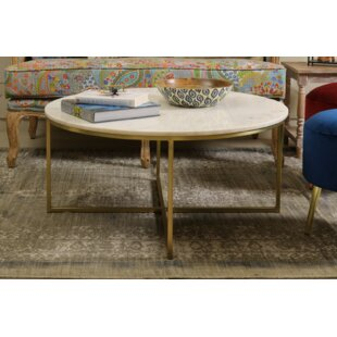 Coraline Marble and Brass Coffee Table