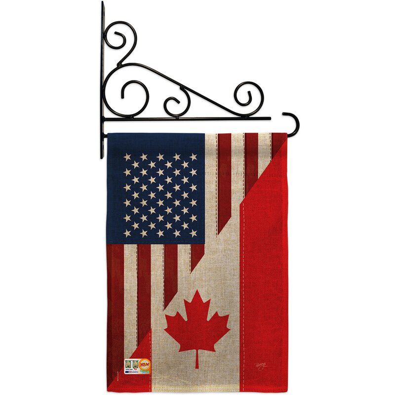 Patriotic Welcome Friends Stars And Stripes Yard Garden Flag 2 Sided 12 X 18
