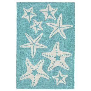 Claycomb Hand-Tufted Aqua Indoor/Outdoor Area Rug