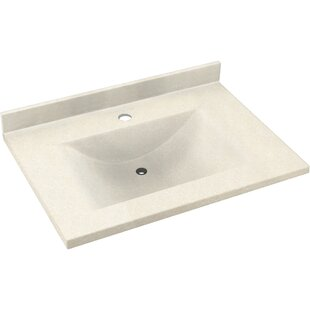 Contour Solid Surface 25 Single Bathroom Vanity Top by Swan