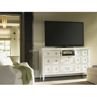 Ivory Key Grotto Isle 9 Drawer Media Chest
