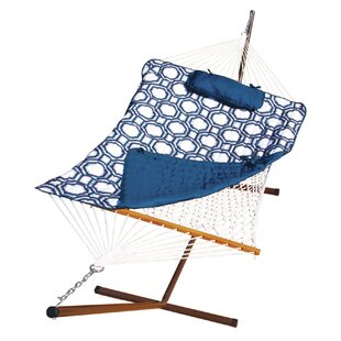 Stinson Cotton Chair Hammock with Stand