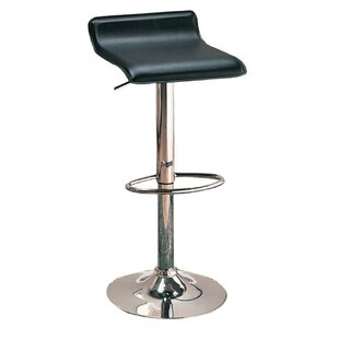 Zahara Adjustable Height Swivel Bar Stool (Set of 2) Zipcode Design