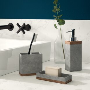 Stonington Concrete Stone 3 Piece Bathroom Accessory Set By Greyleigh