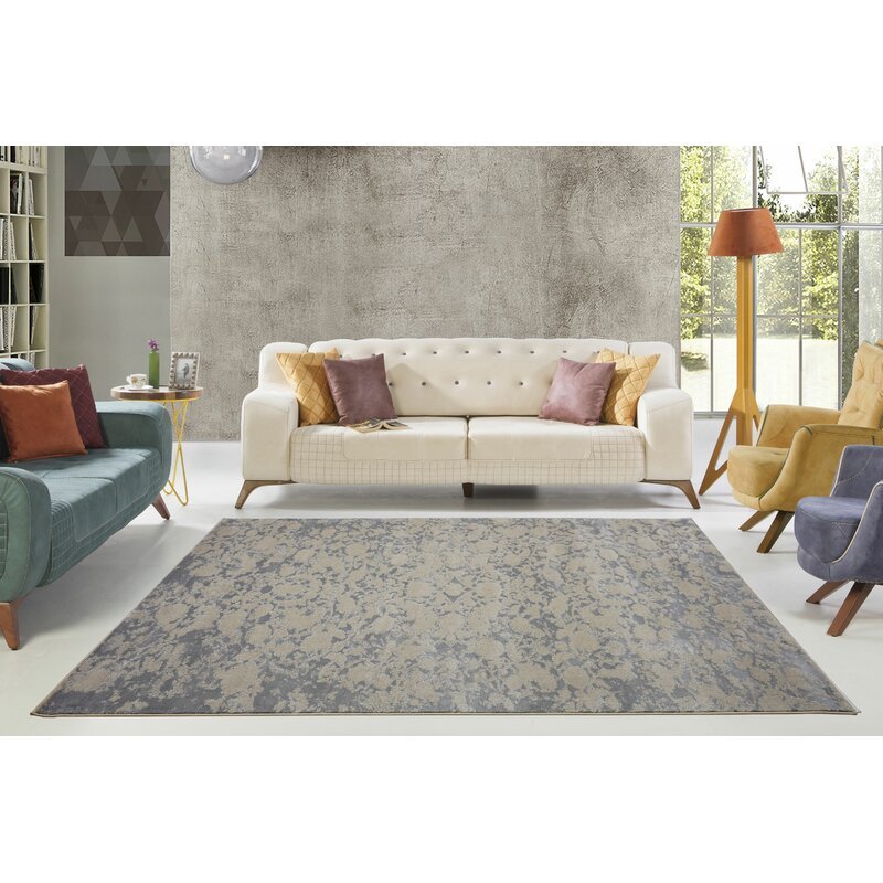 Bungalow Rose Concord Champagne Camel Grey Area Rug Reviews