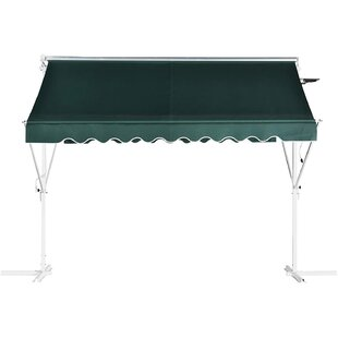 Sonakshi 3m W X 3m D Retractable Patio Awning By Sol 72 Outdoor