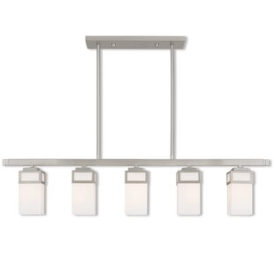 Ebern Designs Nailwell Linear 5-Light Kitchen Island Pendant