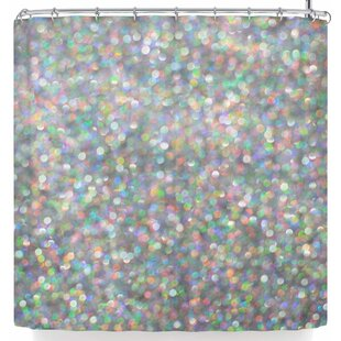 Reviews Susan Sanders Rainbow Silver Glitter Shower Curtain By East Urban Home
