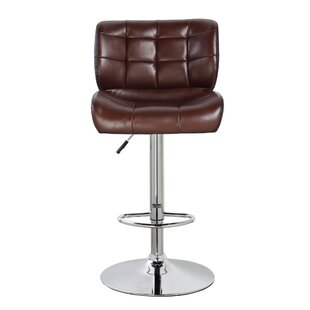 Mckenna Adjustable Height Swivel Bar Stool by Orren Ellis