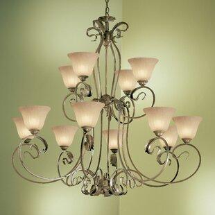 Classic Lighting Manilla 12-Light Shaded Chandelier