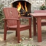 Patio Dining Chair with Cushion by August Grove