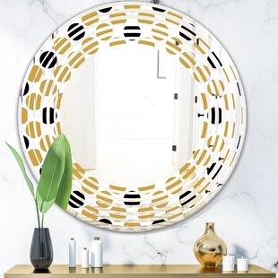 Wave Polka Dot Modern  Contemporary Frameless Wall Mirror by East Urban Home