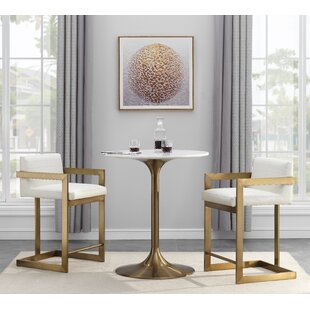 Saugus 3 Piece Pub Table Set by Everly Quinn