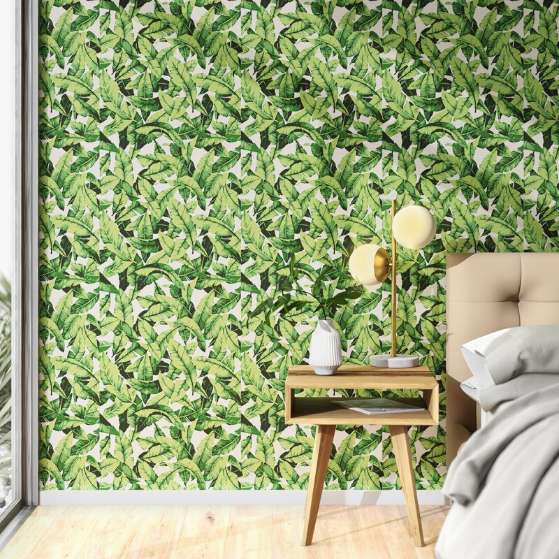 Julie Palm Leaf 16 5 L X 20 5 W Floral And Botanical Peel And Stick Wallpaper Roll Reviews Allmodern