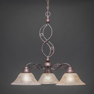Fleur De Lis Living Thomason 3-Light Shaded Chandelier