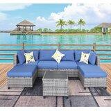 Brona 7 Piece Deep Seating Group with Cushions by Latitude Run®