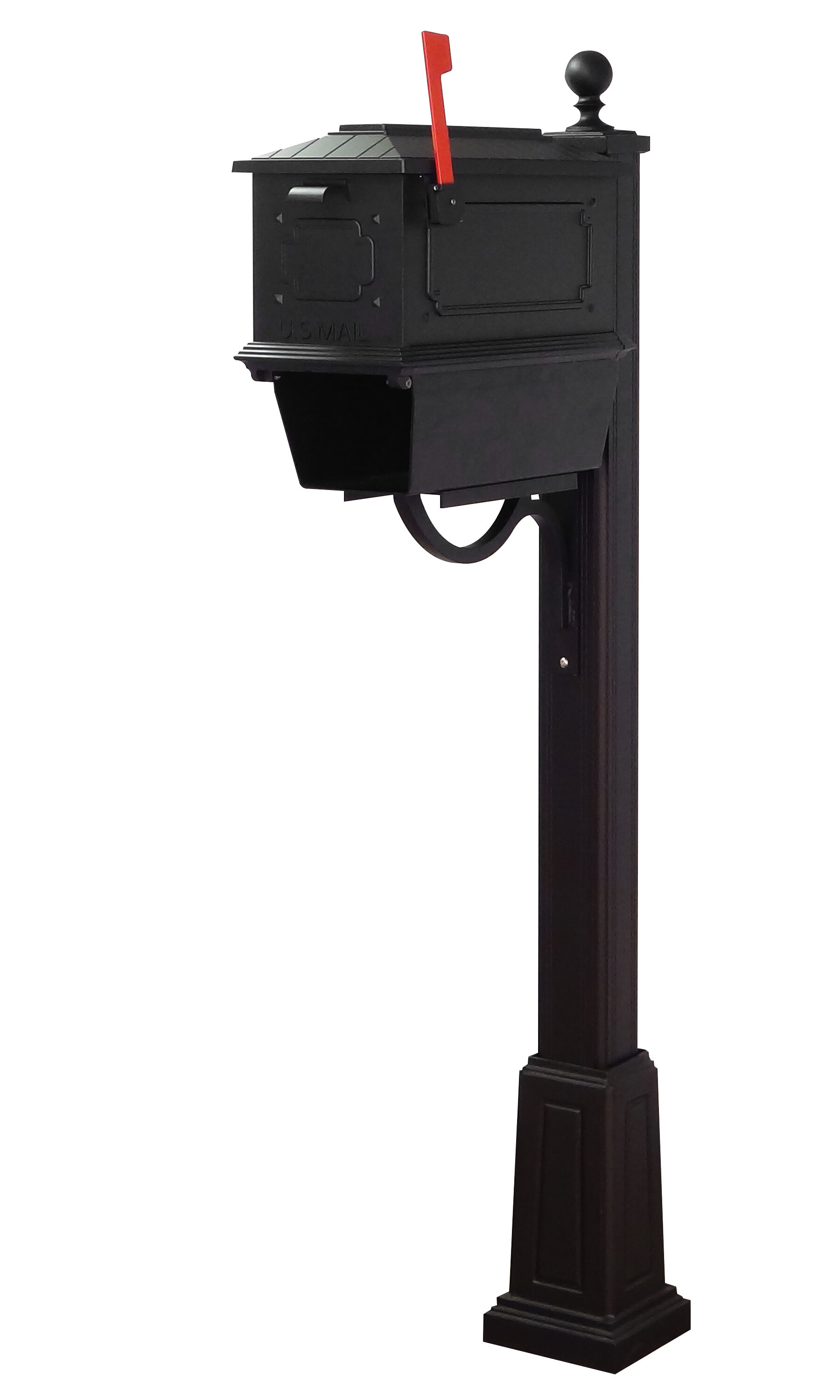 Special Lite Products Kingston Locking Mailbox With Post Included Wayfair