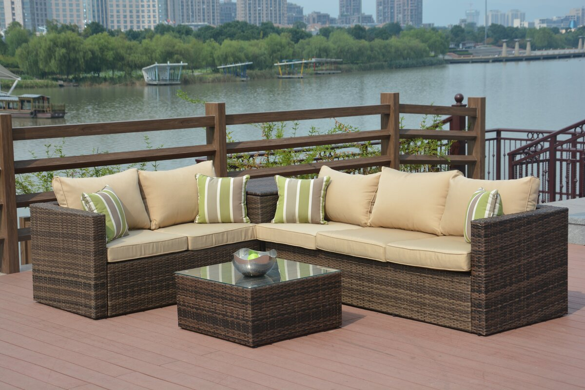 Jasmine 4 Piece Sofa Set With Cushions