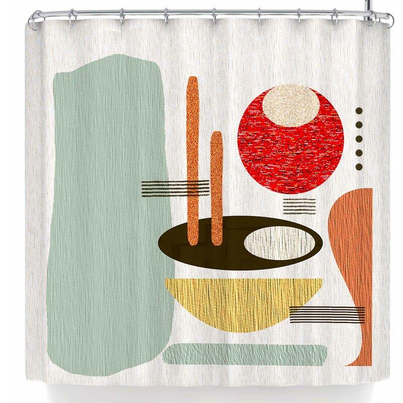 East Urban Home Li Zamperini Retro Shower Curtain | Wayfair