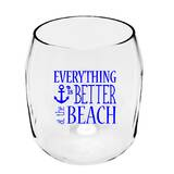 Ria 19 oz. Plastic Stemless Wine Glass by Highland Dunes