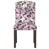 Mireille Camel Back Floral Upholstered Dining Chair by Latitude Run