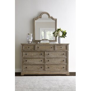 Compare prices Wethersfield Estate 9 Drawer Dresser with Mirror by Stanley Furniture