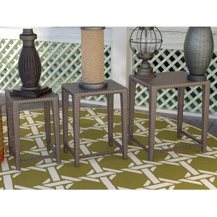Breesford 3 Piece Wicker Side Table Set