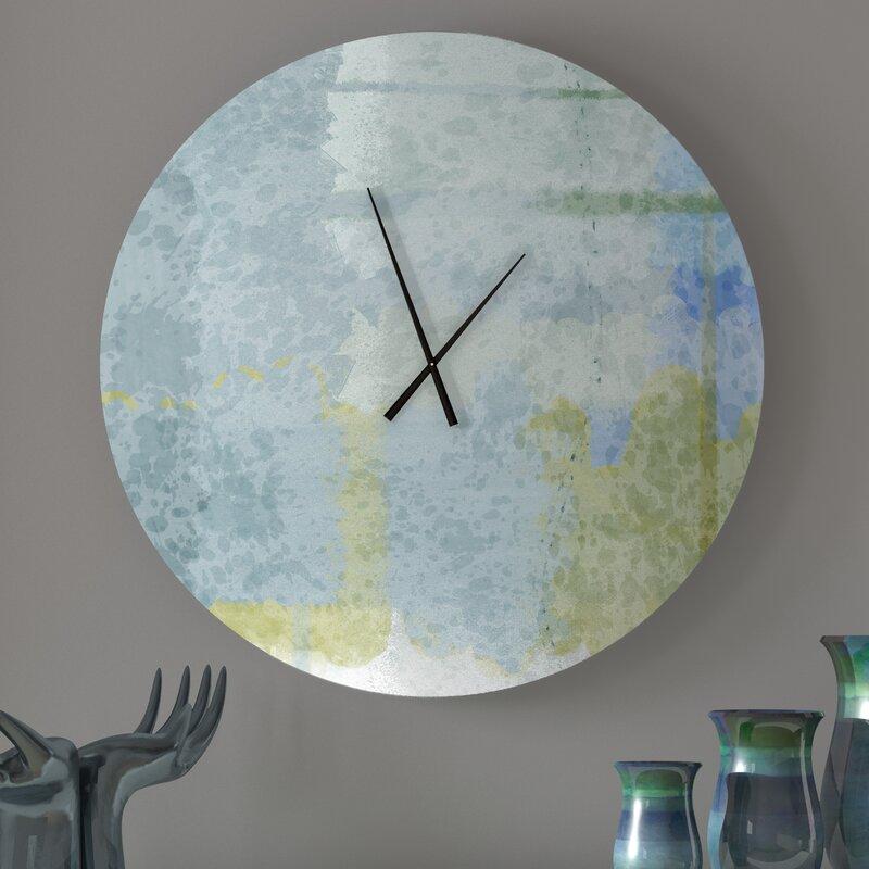 Latitude Run Optimal Intriguing Abstract Metal Wall Clock Wayfair
