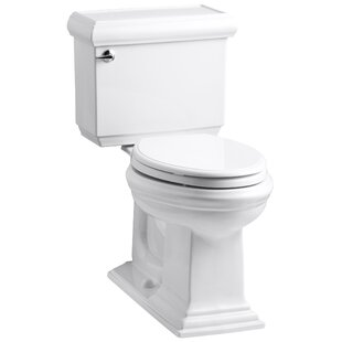 Kohler Memoirs Classic Comfort Height Two Piece Elongated 1.6 GPF Toilet with Aquapiston Flush Technology and Left-Hand Trip Lever