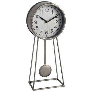 Contemporary Metal Desk Clock