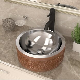 Compare Fleet Metal Circular Vessel Bathroom Sink By ANZZI