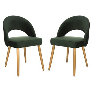 Elisabeth Retro Upholstered Dining Chair (Set of 2) by Langley Street