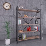 Gehring 71'' H x 35'' W Metal Etagere Bookcase by 17 Stories