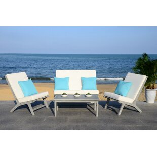 Affordable Price Cortney 4 Piece Chair Set with Cushions By Trent Austin Design