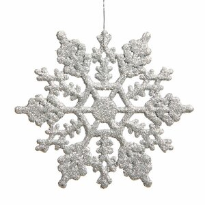 Glitter Snowflake Christmas Ornament (Set of 24)