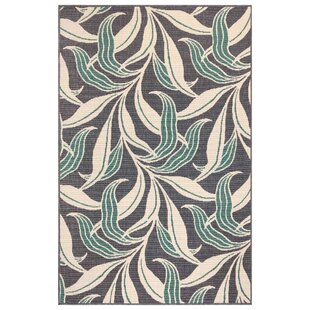 Mario Leaf Navy Indoor/Outdoor Area Rug