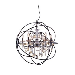Willa Arlo Interiors Svante 6-Light Globe Pendant