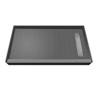 BaseN Bench 33 x 72 Single Threshold Shower Base with Bench and Drain Grate